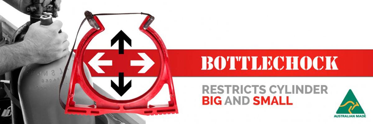 Fixation et mise en sécurité des boutielles Bottlechock